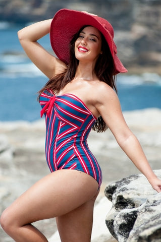 Marilyn one piece- Empire Stripe