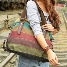 Load image into Gallery viewer, Women's Canvas Multi-Color Hobos Shoulder Bag Tote Handbag