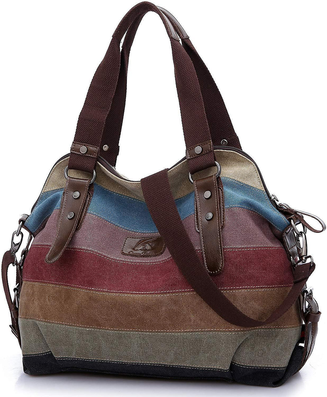 Women's Canvas Multi-Color Hobos Shoulder Bag Tote Handbag