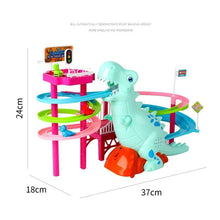 Load image into Gallery viewer, Musical Dinosaur LED Race Toy