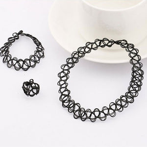 Black Stretch Jewellery Set Set from Blood Moon Gothic
