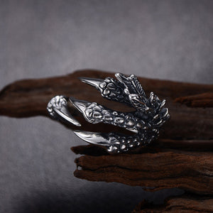 Feathered Dragon Claws Ring Ring from Blood Moon Gothic