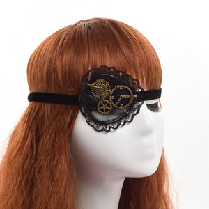 Leather and Lace Steampunk Eyepatch Hair Accessories from Blood Moon Gothic