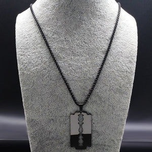 Stainless Steel Razor Blade Necklace Necklace from Blood Moon Gothic