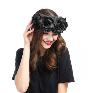 Black Rose Crown Headband Hair Accessories from Blood Moon Gothic