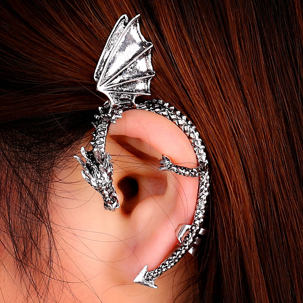 Dragon Cuff Clip Earring Earrings from Blood Moon Gothic