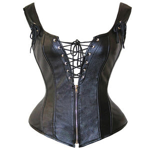 Leather Lace Up Corset Corset from Blood Moon Gothic
