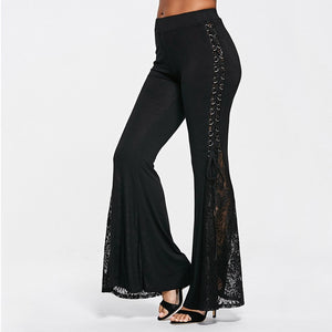Flared Gothic Lace Pants Pants from Blood Moon Gothic