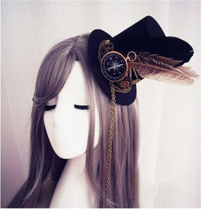 Mini Steampunk Compass Top Hat