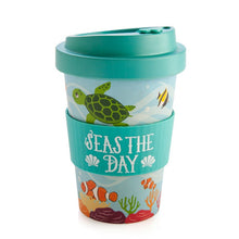 Load image into Gallery viewer, Sea Animal Eco-to-Go Bamboo Cup