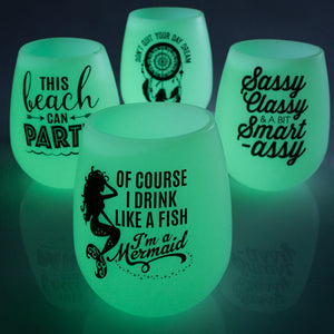 Glow in the Dark Wine Glasses