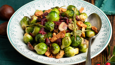 BRUSSELS SPROUTS & TEMPEH RASHERS