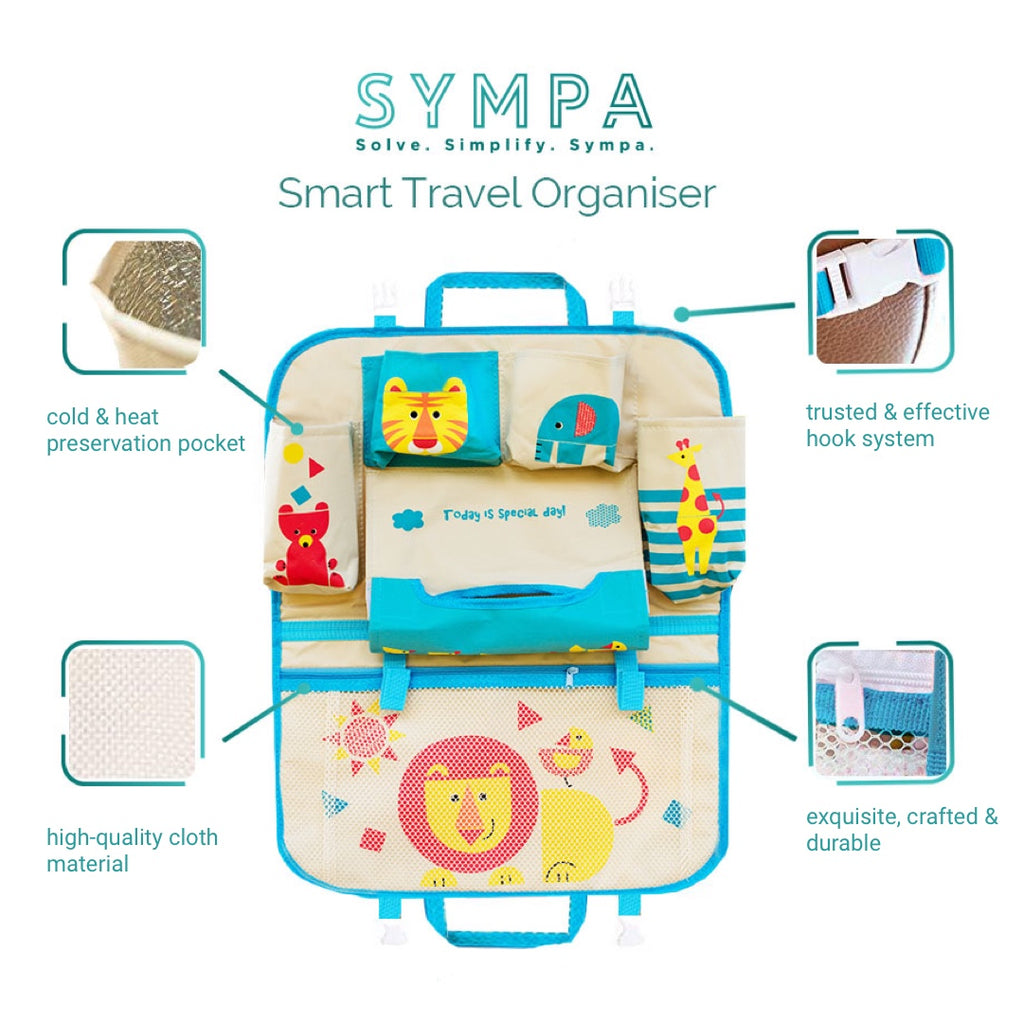 Smart Travel Organiser Blue
