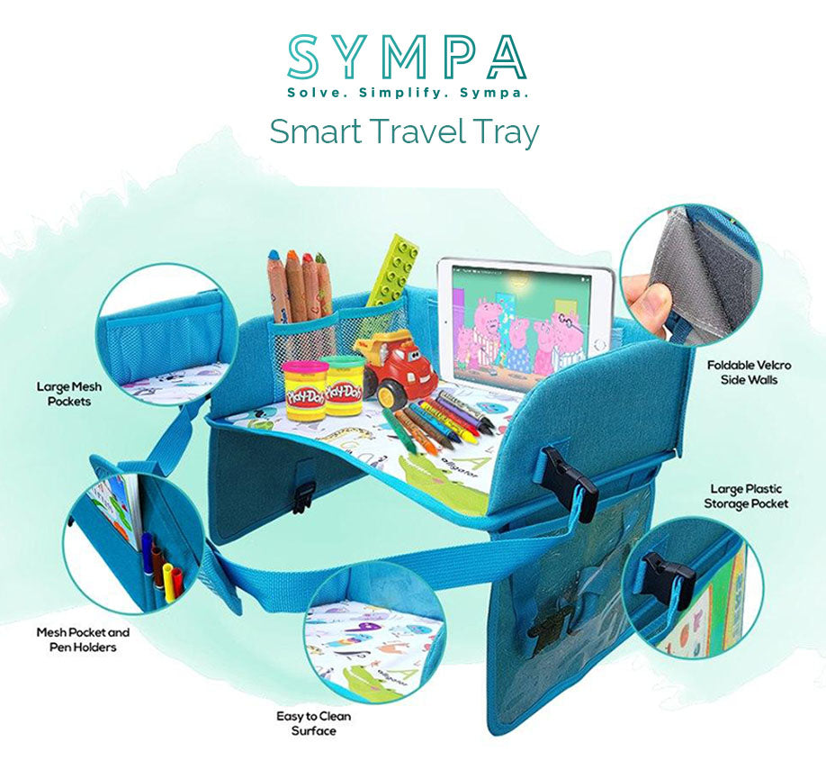 Smart Travel Tray Blue