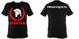 Sparta T-Shirt Black - Spartan Red - sparta-car-care
