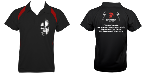 Sparta Skeleton Polo T-Shirt - sparta-car-care