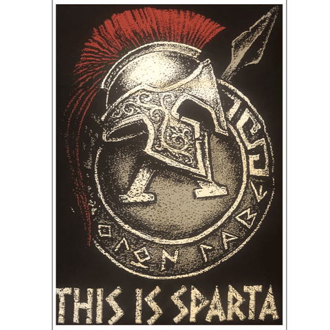 This is Sparta Unframed Art Print (Portrait) - sparta-car-care