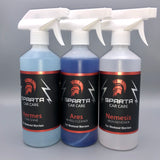 Wheel and Tyre Cleaner Bundle - Ares Wheel Cleaner - Nemesis Iron Fallout Remover - Hermes Tyre Shine - sparta-car-care