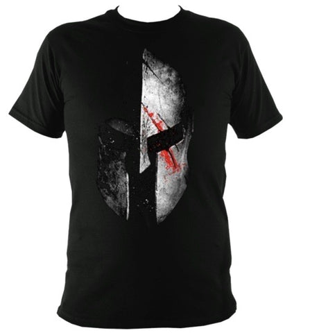 Sparta Helmet Blood T-Shirt - sparta-car-care