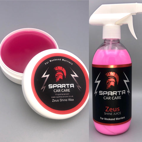 Wax and maintenance bundle - Zeus Shine Juice and Wax