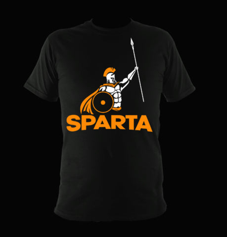Sparta Warrior T-Shirt - Yellow Spartan Warrior - sparta-car-care