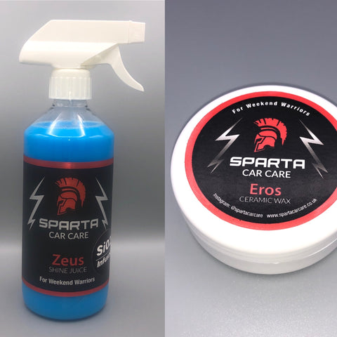Wax and maintenance bundle - Zeus Shine Juice and Eros Ceramic Wax