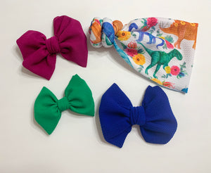 Dino Big Bows, Small Bows, Piggies, & Minis
