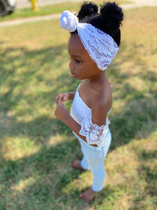 Black & White Collection Headwraps,Topknots, &Twisty Bands