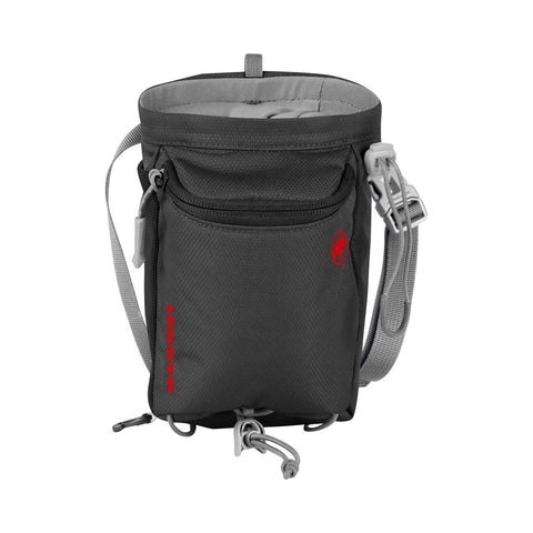 black Mammut chalkbag with a zipper pocket in the front