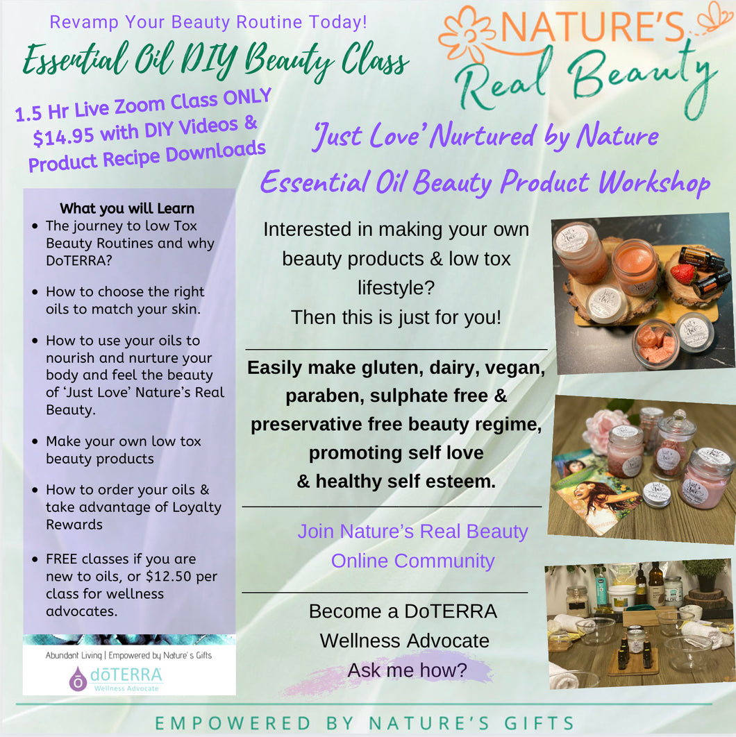 DoTERRA | Essential Oils DIY Beauty Class