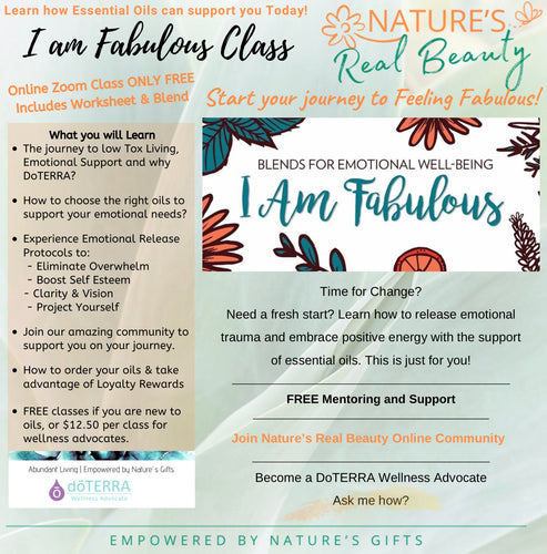DoTERRA | Essential Oil 'I Am Fabulous' Class