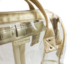 Gold Metallic Trim Hinge-top Clear Backpack
