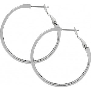 Contempo Medium Hoop Earrings SILVER