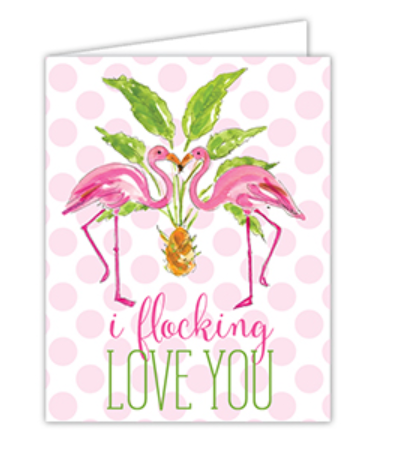 I Flocking Love You Greeting Card