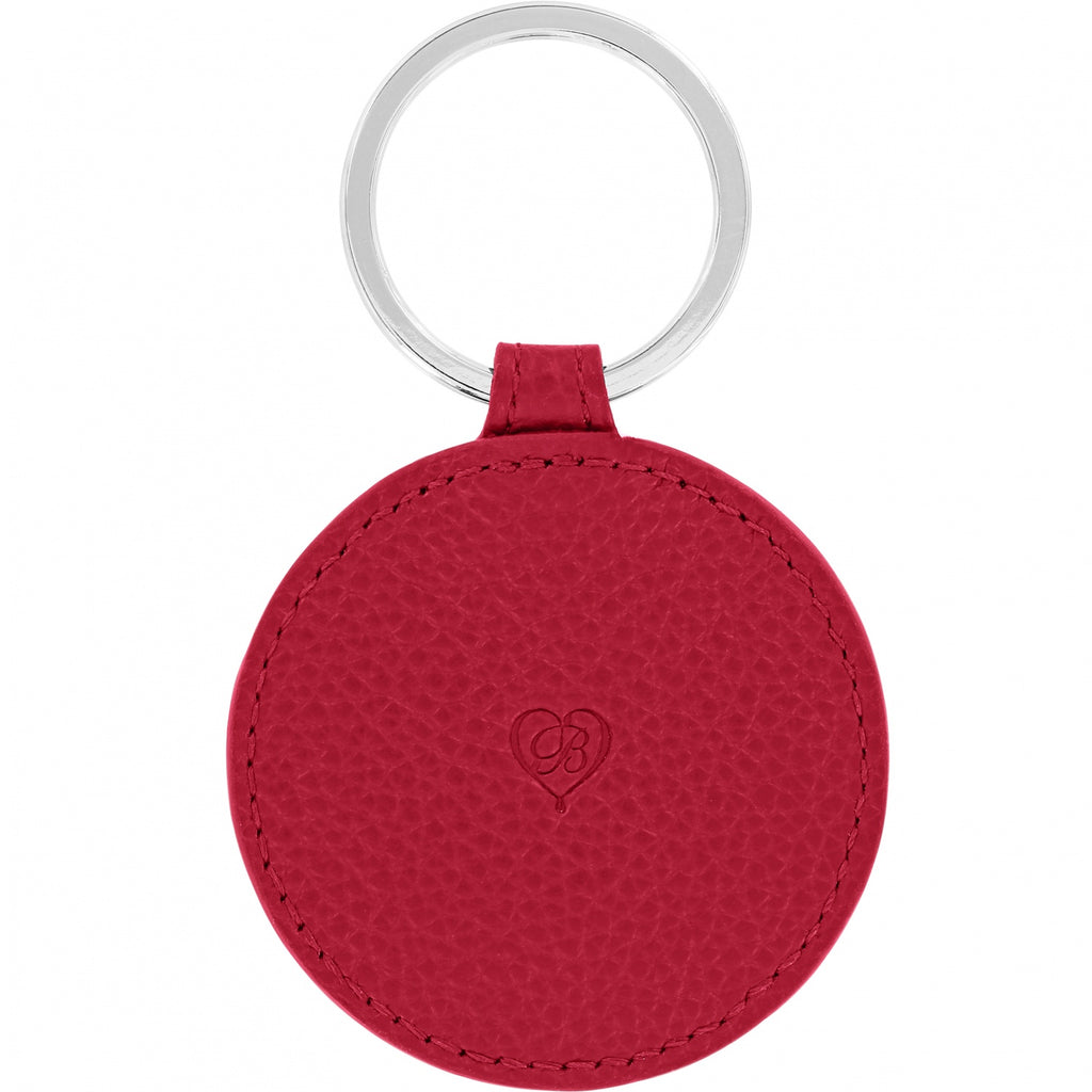 Ferrara Leather Key Fob LIPSTICK