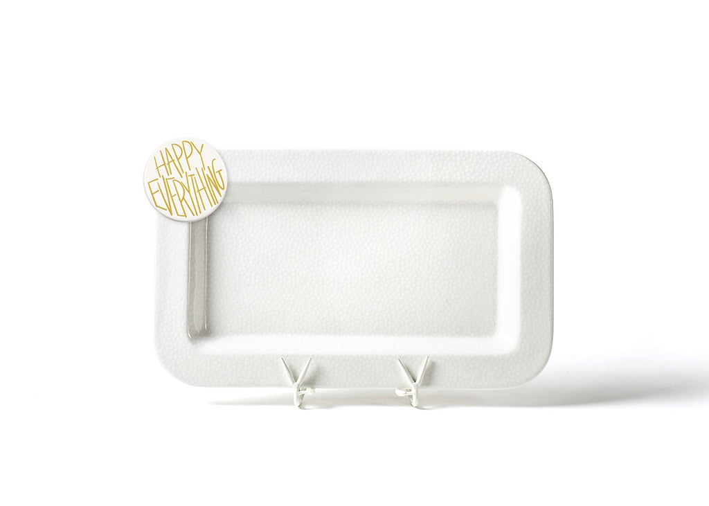 WHT SM Dot Entertaining Mini Platter w Happy Everything Attachment