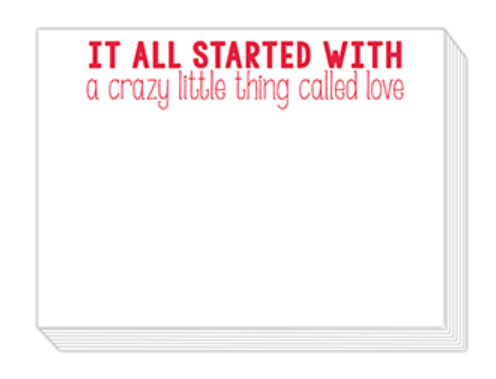 A Crazy Little Thing Called Love Mini Slab Pad