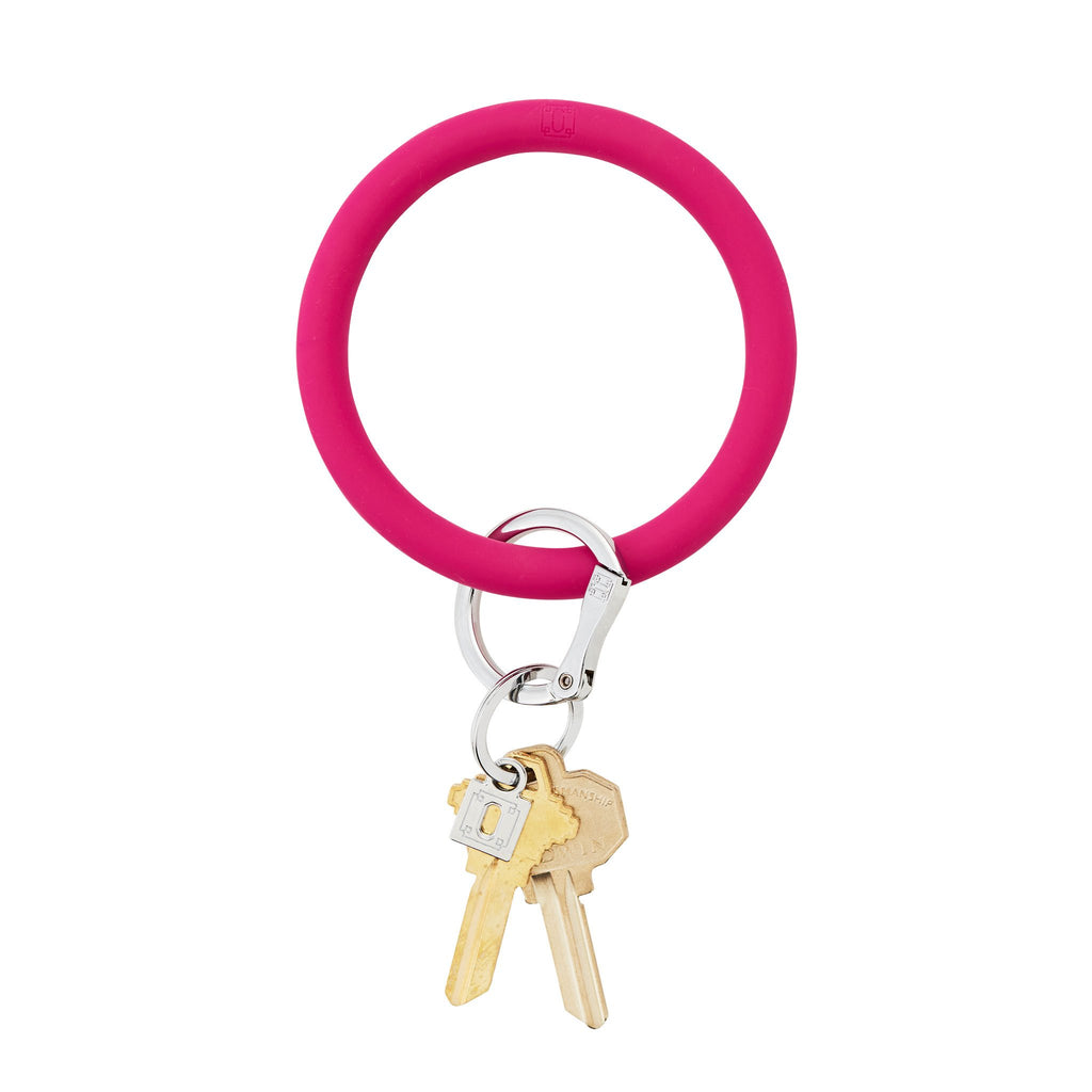 Big O Silicone Key Ring-I SCREAM PINK