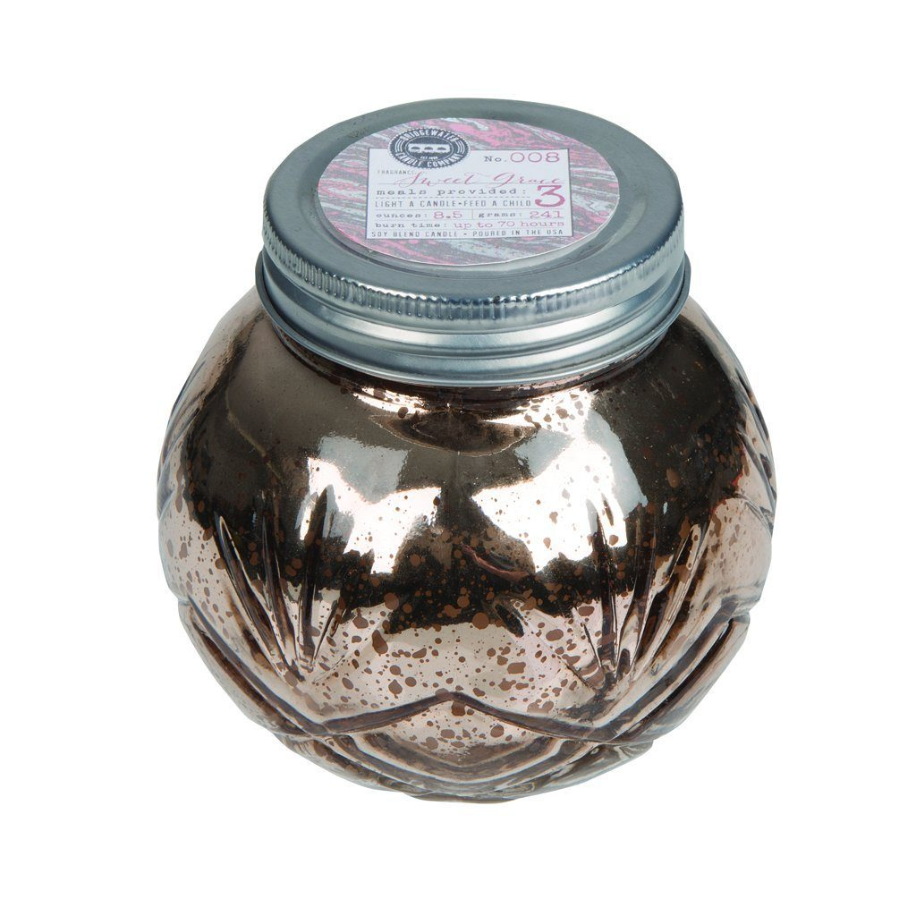 Sweet Grace Blush Round Mercury Jar Candle
