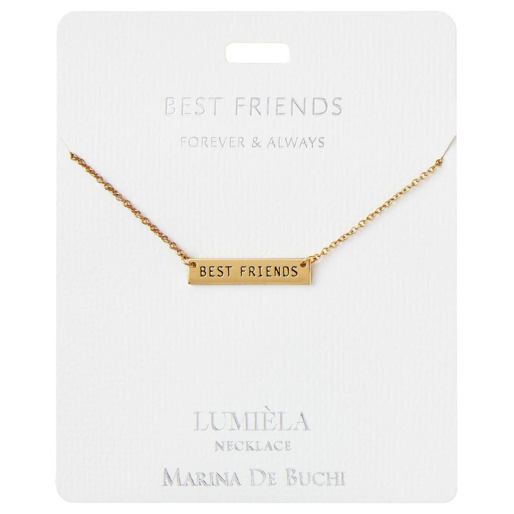 Forever & Always Best Friends Bar Pendant Necklace, 20""