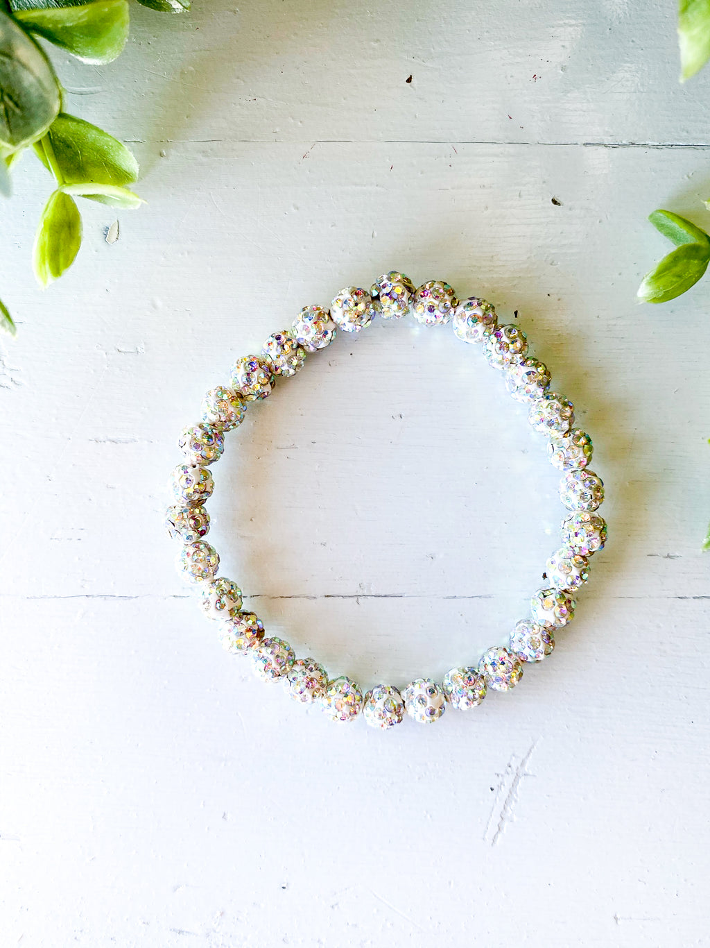 White Bling Stretch Bracelet