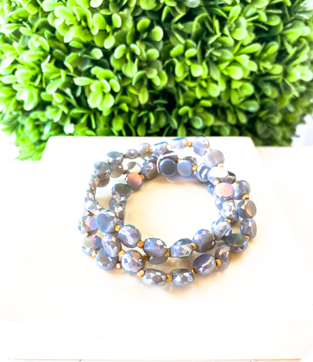 Gray Bella Bracelet Set