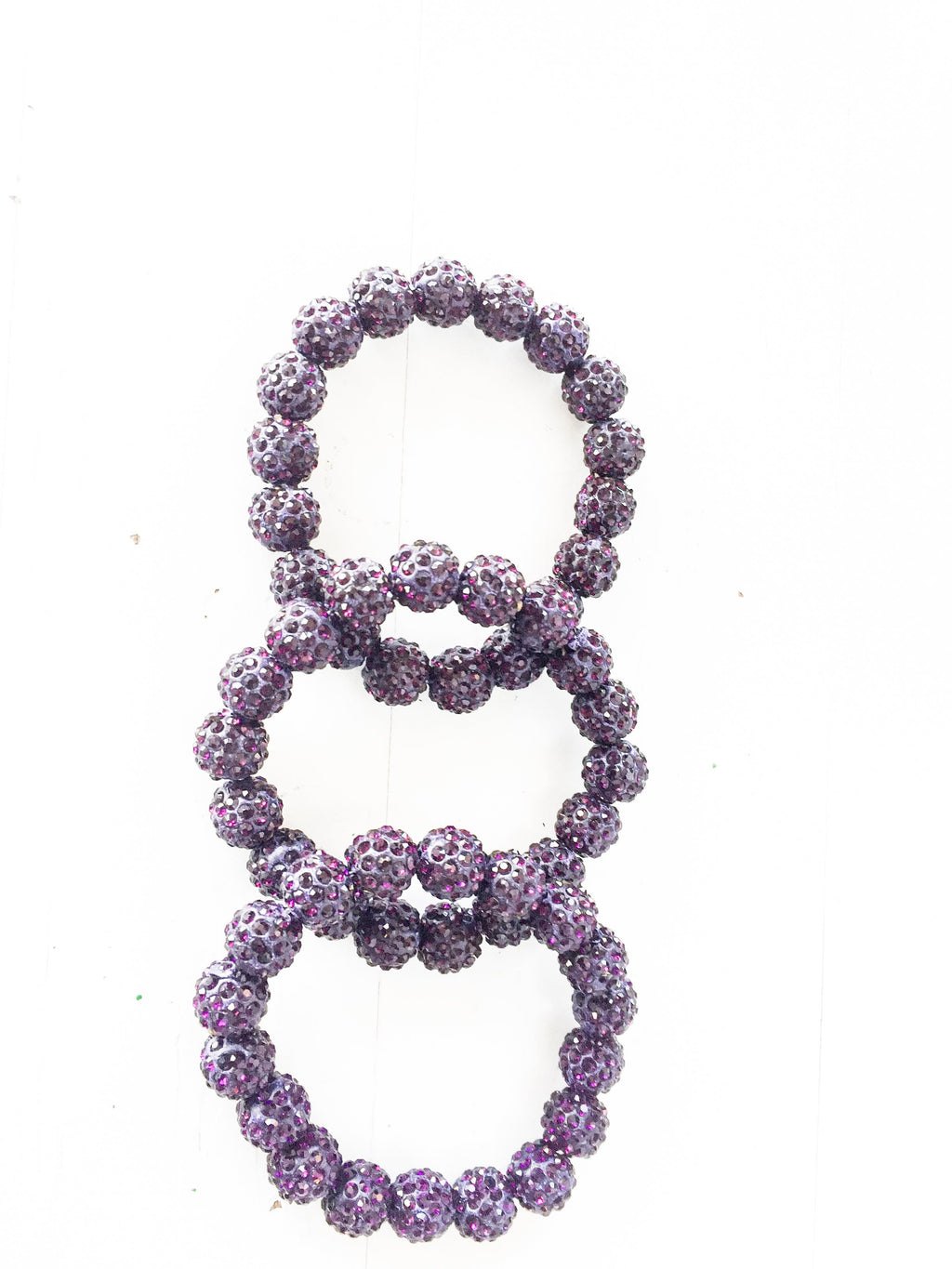 Purple Bling it On Stretch Bracelet
