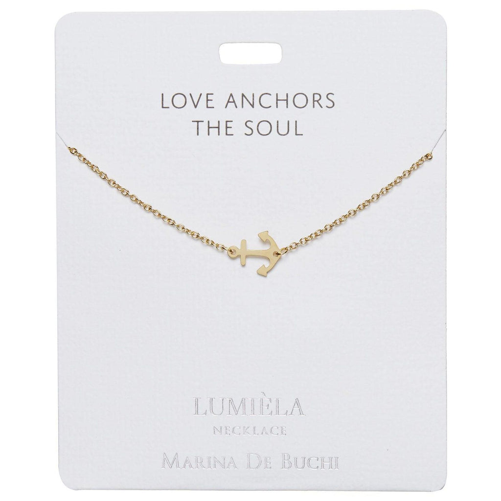 Love Anchors the Soul Anchor Charm Necklace, 20""