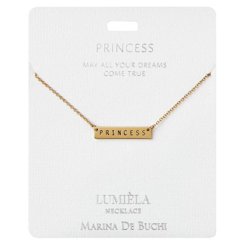 May All Your Dreams Come True Princess Bar Pendant Necklace, 20
