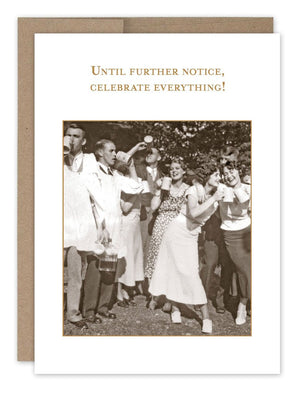 Until Further Notice - Congratulations Card