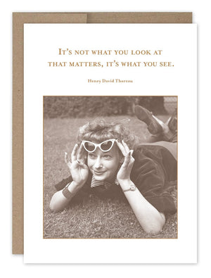 What You See - Encouragement Card