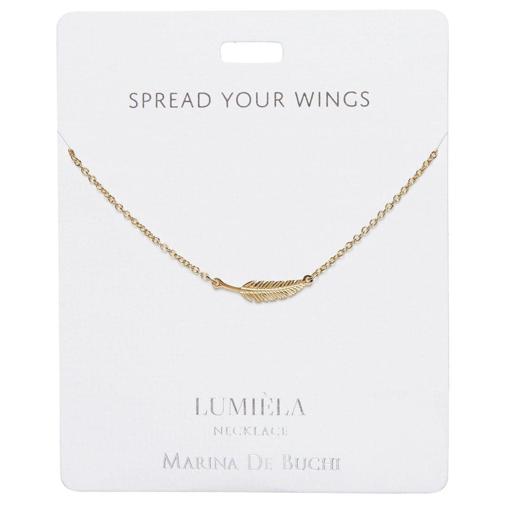 Spread Your Wings Feather Charm Necklace, 20""
