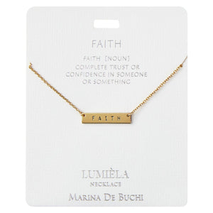 Trust & Confidence Faith Bar Pendant Necklace, 20""