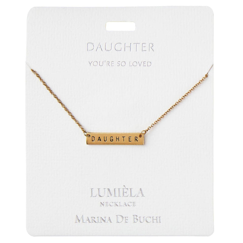 You're So Loved Daughter Bar Pendant Necklace, 20